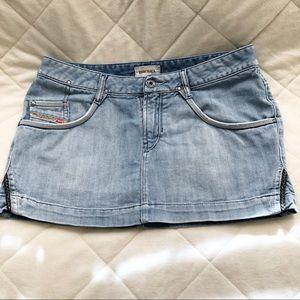 Diesel light wash denim skirt size EUR 29